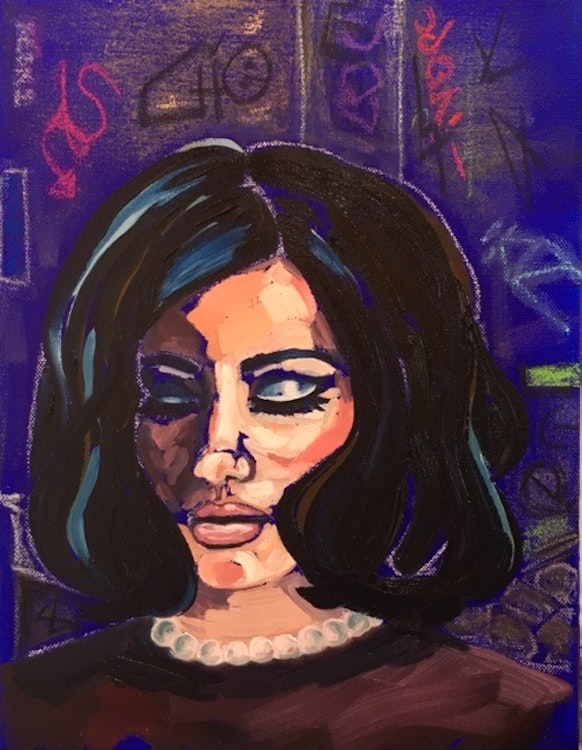 Graffiti Girl  8x10