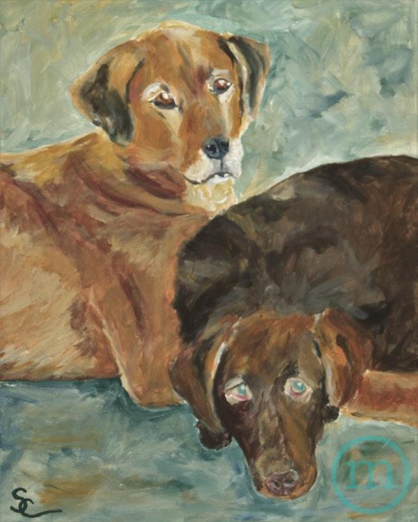 Pongo and Reishi 10 x 8 Sold