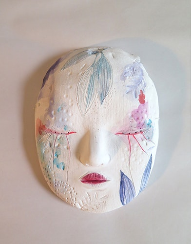 Masque de la lune fleurie - Mask of the moon flower