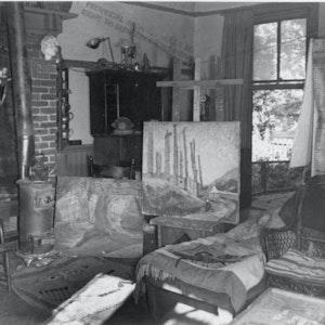 Thunderbird Totem and Big House c. 1925