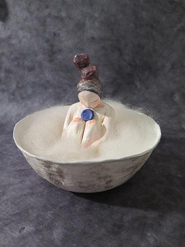 Le bain de la déesse de la lune bleue