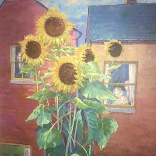 Man with Sunflowers II