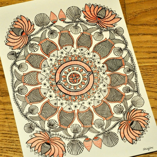The Lotus and Fish Mandala