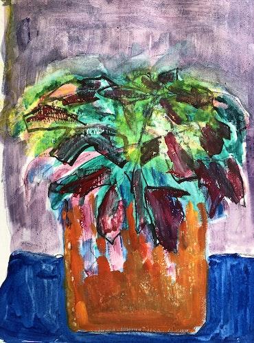 Plant in an Orange Pot