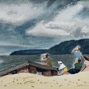 On the Beach, Thunder Beach, Ont. 1946