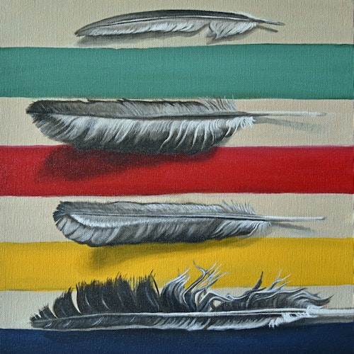 Feathers Over Blanket