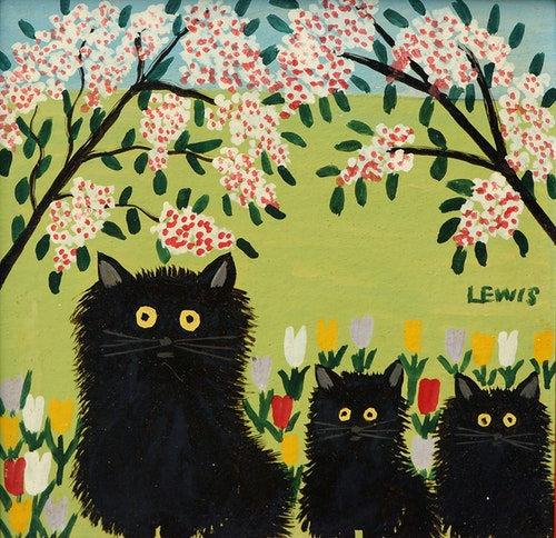 Black Cats and Tulips