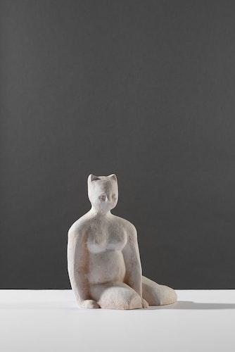 Sculpture - Seated Cat Figure