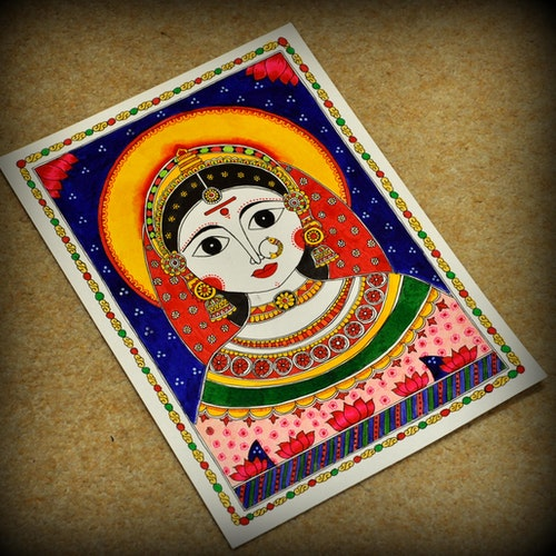 Goddess Gauri (Indian Madhubani)
