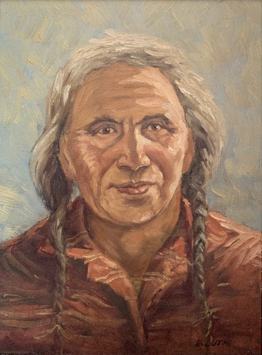 Portrait of Frank Buffalo of the Day Star Band, Punnichy, Sask.