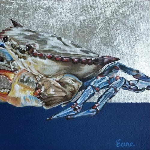 Blue Crab II (framed)