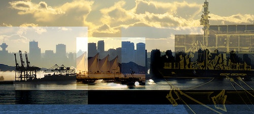 Sunset View of Vancouver Skyline