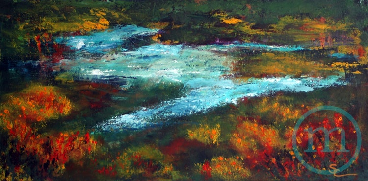 Sitting by the River 15 x 30
