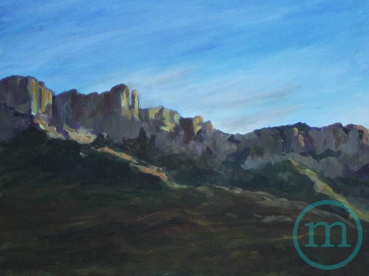 Pusch Ridge Sunset 9 x 12 Framed