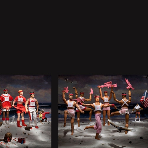 NRA Sponsored Rhythmic Gymnastics Competition (Team USA performs while Canada and France look on)