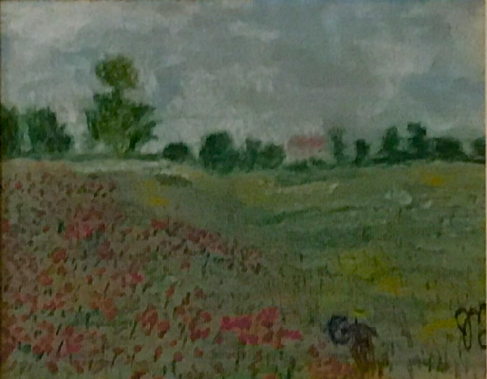Wild Poppies, near Argenteuil  (after Monet)