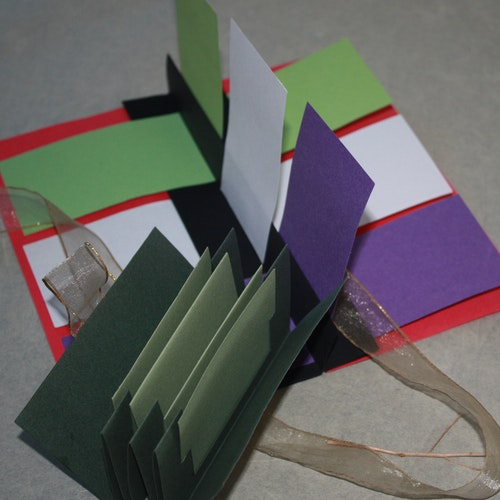 Flag book.  Concertina book. Small momento folder