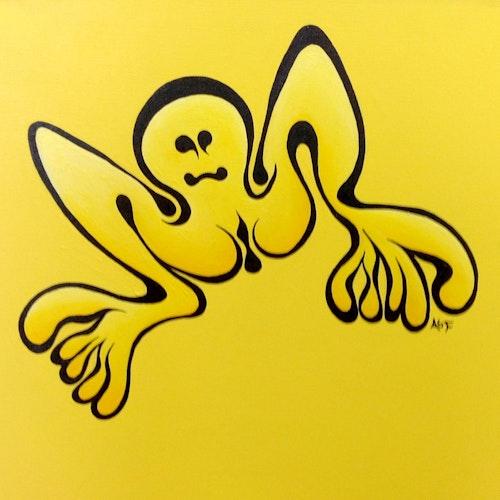 Happy Butt (stencil practice rendition)