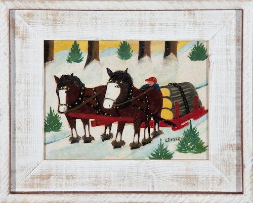 Horses Hauling Logs