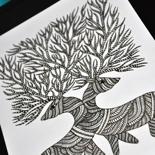 The Double Deers (Indian Gond)