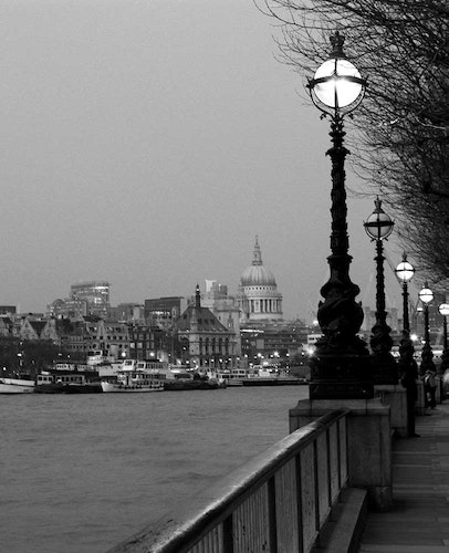 London St. Paul's and Thames at Night