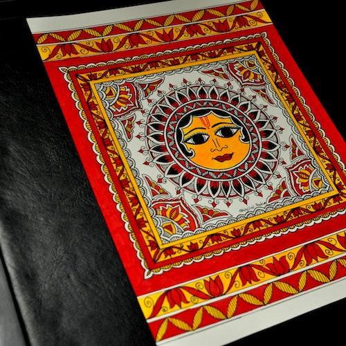 Surya (Indian Madhubani)