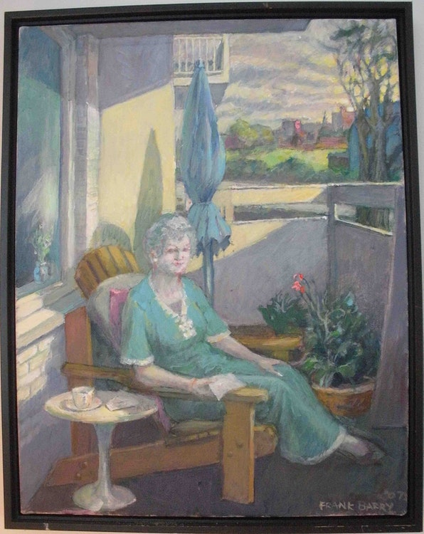 Lady on Balcony II