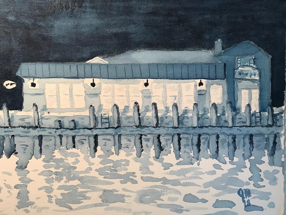 Annapolis dockside bar