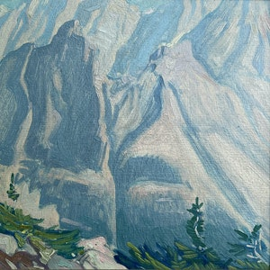 Wiwaxy Peaks, From Odaray Mt., Above Lake O'Hara c.1930