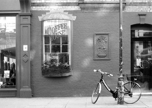 London Coffee House with Bike