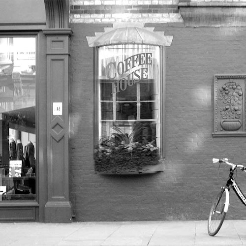 London Coffee House with Bike