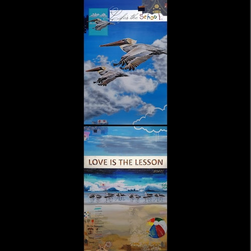 Commission ~ Love Is the Lesson (diptych)