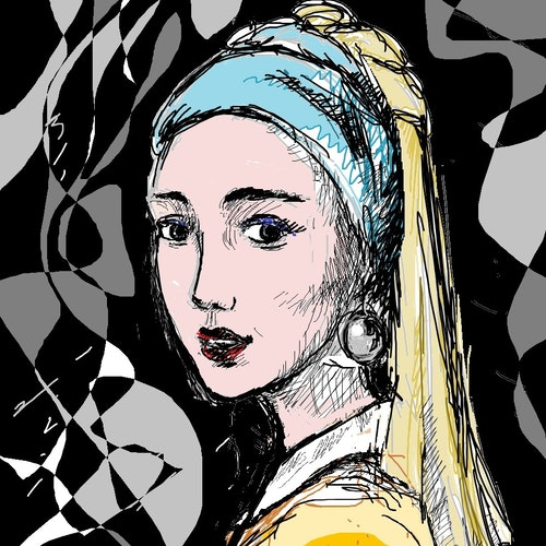 Variation on Vermier's Girl with a Pearl Earring