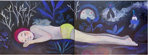 The dark night (diptych)