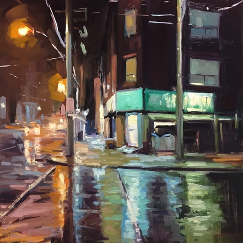 Roncesvalles Corner, Evening