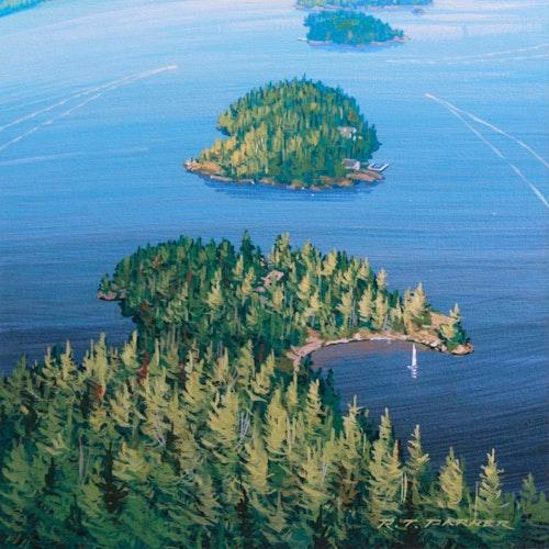 Allan's Island, Looking N.E.