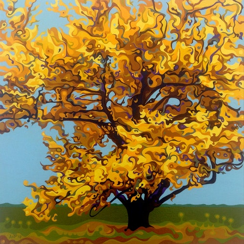 Autumnal Yellow Treet