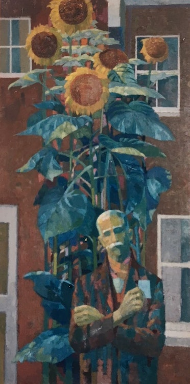 Man with Sunflowers I