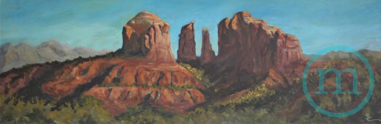 Sedona's Cathedral 12 x 36 x 1 Sold