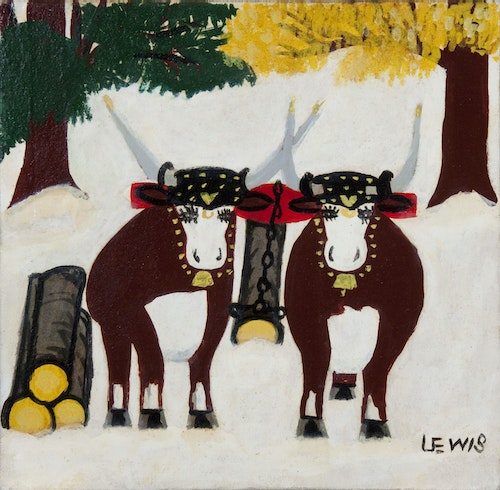 Two Oxen in Winter