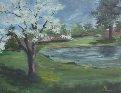 Springtime at the Golf Course 11 x 14 Sold