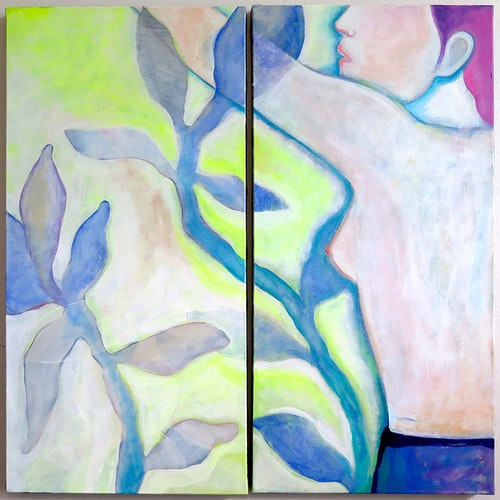 Nijinski dans un jardin, vers la lumière (dyptique)