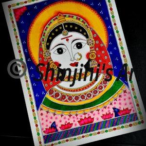 Goddess Gauri (Indian Madhubani)