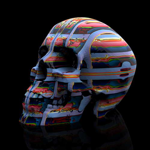 Progresso (Skull Print) 5x5 Limited Edition Print