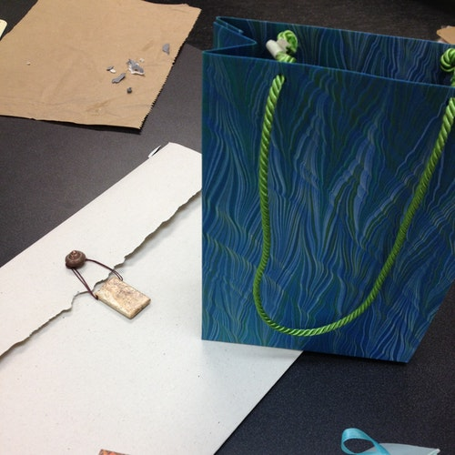 Handmade bag, folio, box and folded container