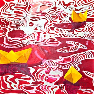 Paper Boats - Red