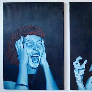 Devotion May Cause Side Effects (left, diptych)