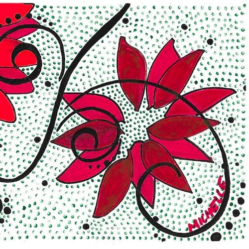 Red Flowers & Vines