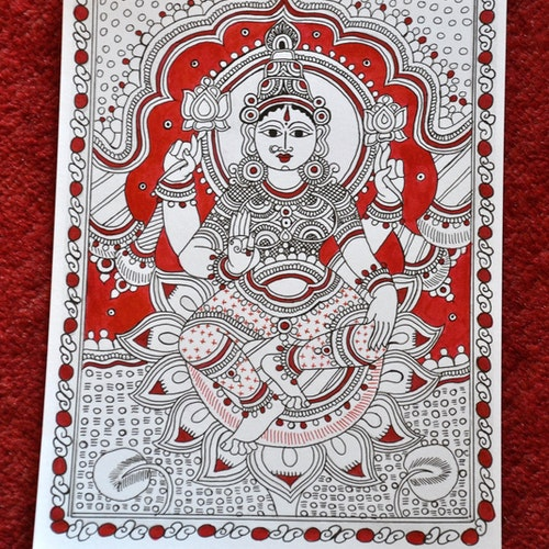 Lakshmi (Indian Kalamkari)