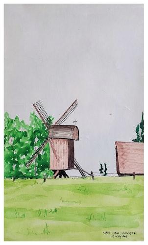 FARM NEAR MUNSTER (watercolor postcard)